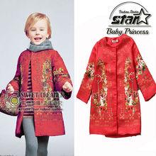 Girls Coats and Jackets 2015 Brand Winter Baby Girls Jackets Flower Print Kids Jackets for Kid Clothes Designer Children Outwear