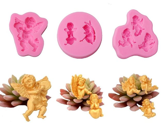 Baby Shower Silicone Molds ~ Online shop cute baby angel sugarcraft silicone mold fondant cutter
