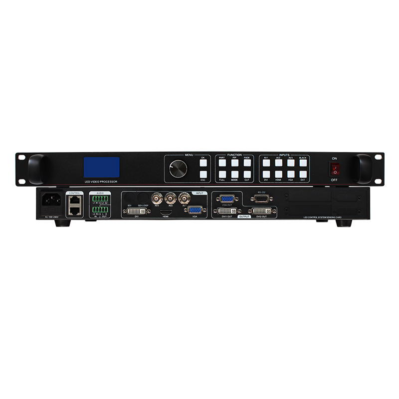 free shipping lvp613 digital audio video processor mixer for flexible led video display led 7 segments outdoor led matrix free shipping led display controller led video processor usb video processor ams lvp613 compar vdwall lvp515 with audio output