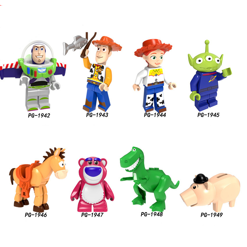 MINI FIGURES TOY STORY WOODY BUZZ JESSIE LOTSO FORKY REX fits lego and others
