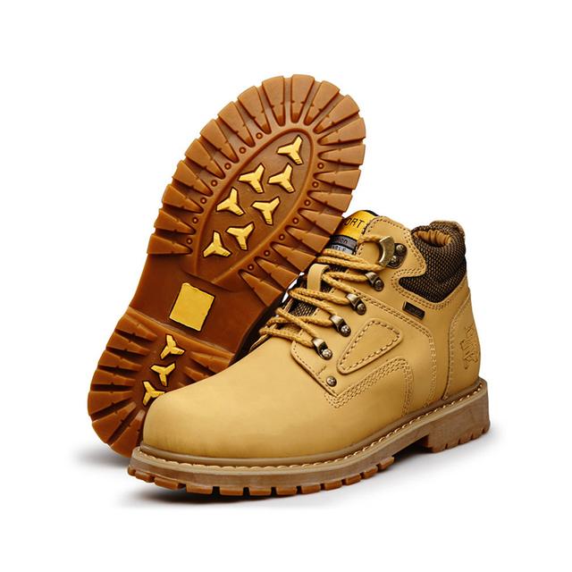 Nueva Alta calidad de cuero genuino Martin botas de viajes mens impermeables botas de invierno cálido zapatos botas de los hombres al aire libre chaussure homme