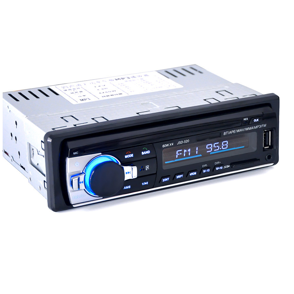 JSD-520 Bluetooth Car In-Dash Stereo FM AUX Receiver Audio 1 DIN USB MP3 Radio