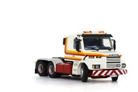 Exquisite Alloy Model WSI 1:50 Scania 3 torpedo Hecker 6x2 Truck Tractor Vehicles DieCast Toy Model Collection Decoration