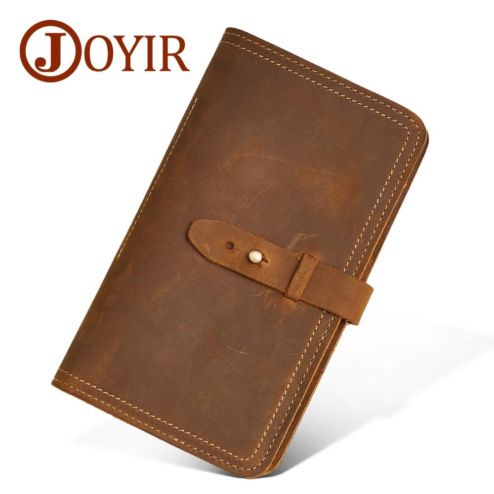 JOYIR en cuir véritable hommes portefeuille porte-carte de crédit porte-passeport fermoir porte-monnaie Designer hommes portefeuilles embrayage pour homme