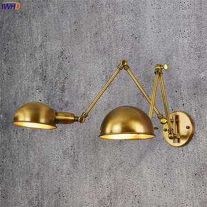Image 2 - Iwhd lâmpada de parede ajustável, vintage, 2 cabeças, lâmpada retrô, loft, luz de parede industrial, edison, sconce, luminária