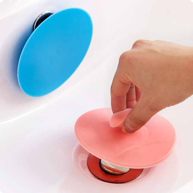 Water Plug Rubber Circle Silicon Drain Plug Bathroom Leakage Proof - Bathroom sink water stopper