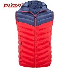 PUZA Jackets Men Sleeveless Vest Men Casual Cotton Waistcoat Outwear Autumn Winter Warm Windbreaker Jackets Coat Plus Size 4XL