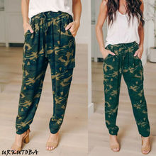 Women Camouflage Printed Casual Pants Elastic Long Ladies Loose Hot Sale 2019 Summer New