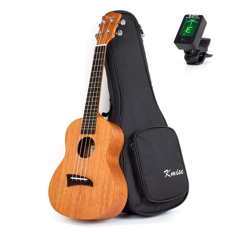 Kmise Concert Ukulele Mahogany Ukelele Uke 23 inch 18 Frets 4 String Hawaii Guitar with Gig Bag Tuner kmise concert ukulele 23 inch 18 frets ukelele uke 4 string hawaii guitar basswood