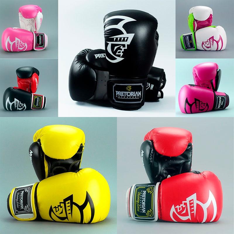 10/12/14/16 oz Pretorian Octroi De Boxe Gants MMA Vitesse Taekwondo lutte Coup mitaines gant Muay Thai Karaté Formation équipement
