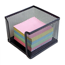 Notes Paper Stationery Desk Stationery Box Metal Wire Netting Office Storage Supplies caixa organizadora basket porta joias