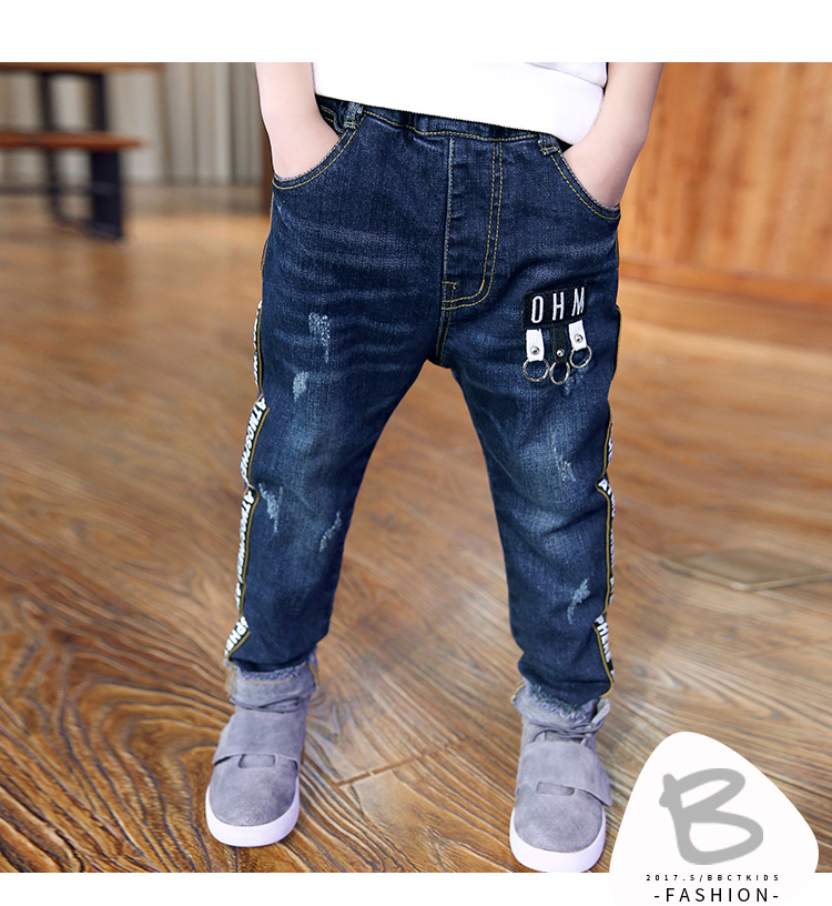 8a2bf6ba3 retail 2019 autumn winter thickened pants boys jeans kids stylish ...
