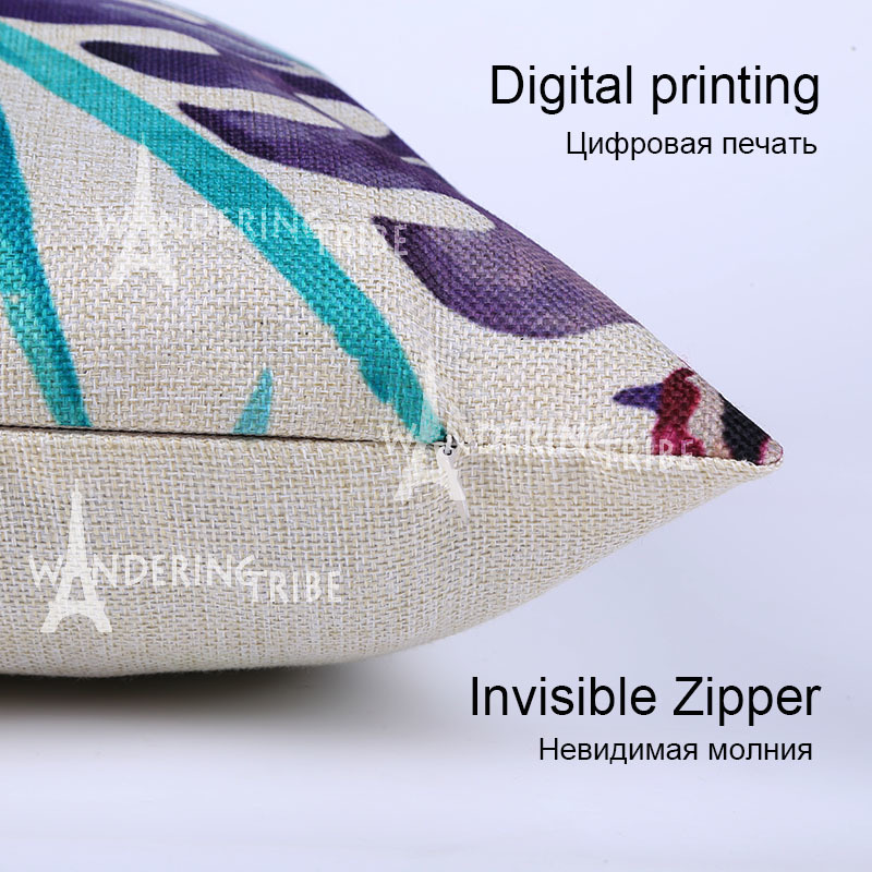 Designer Cushion Covers Cartoon Cute Bird Animal Pillow Case Recliner 45*45Cm Cotton Linen Decor Home Lumbar Pillow Covers2017