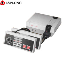 Мини ТВ Игры игровая Консоль консоли плеер с 500 Встроенные игры для NES 8 bit игры + double геймпады Поддержка PAL и NTSC