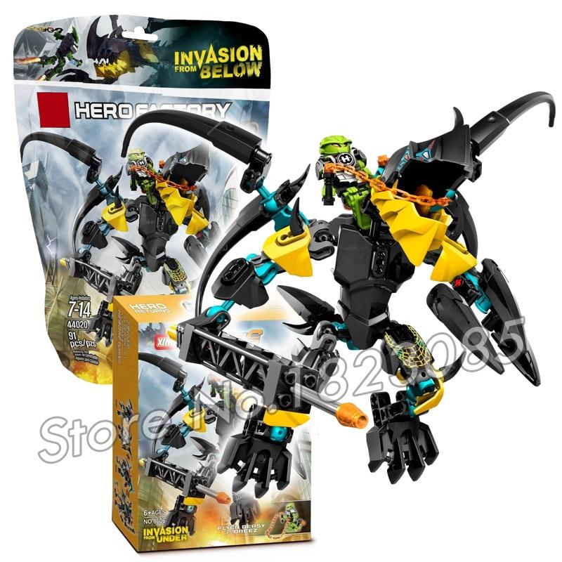 купить 91pcs Bela 2016 Hero Factroy FLYER Beast vs. BREEZ Model Building Bricks Action Toys Compatible With Lego недорого