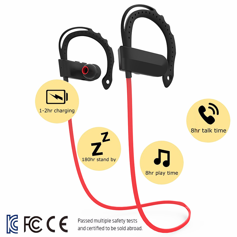 Q12 Wireless Earphone Bluetooth 4.1 Sports Headphones Headset Noise Canceling Stereo Music Earbuds With Mic For Phone Tablet O3 q2 mini bluetooth headset stereo wireless earphone headphones music car driver headset stealth earbuds mic with charging socket