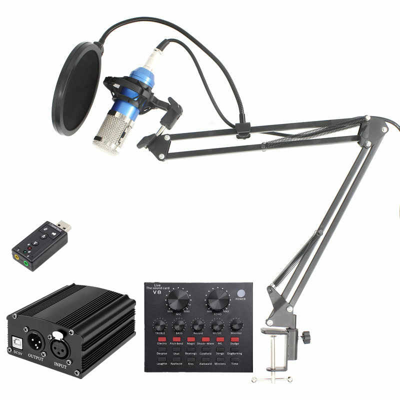 BM800 Mikrofon Condenser Sound Recording BM 800 Studio Microphone Kit With Shock Mount For Computer Radio Braodcasting
