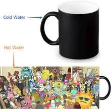 Rick und Morty tassen farbwechsel becher Zurück In Die Zukunft mug wärme offenbaren tasse beste geschenk tee kaffeetassen neuheit keramik tasse