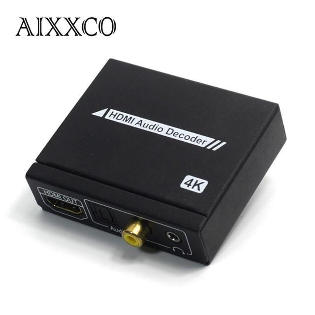 AIXXCO HDMI аудио Декодер SPDIF splitter + стерео аудио, поддерживает полный HD1080p Для ТВ Ноутбук к HDTV