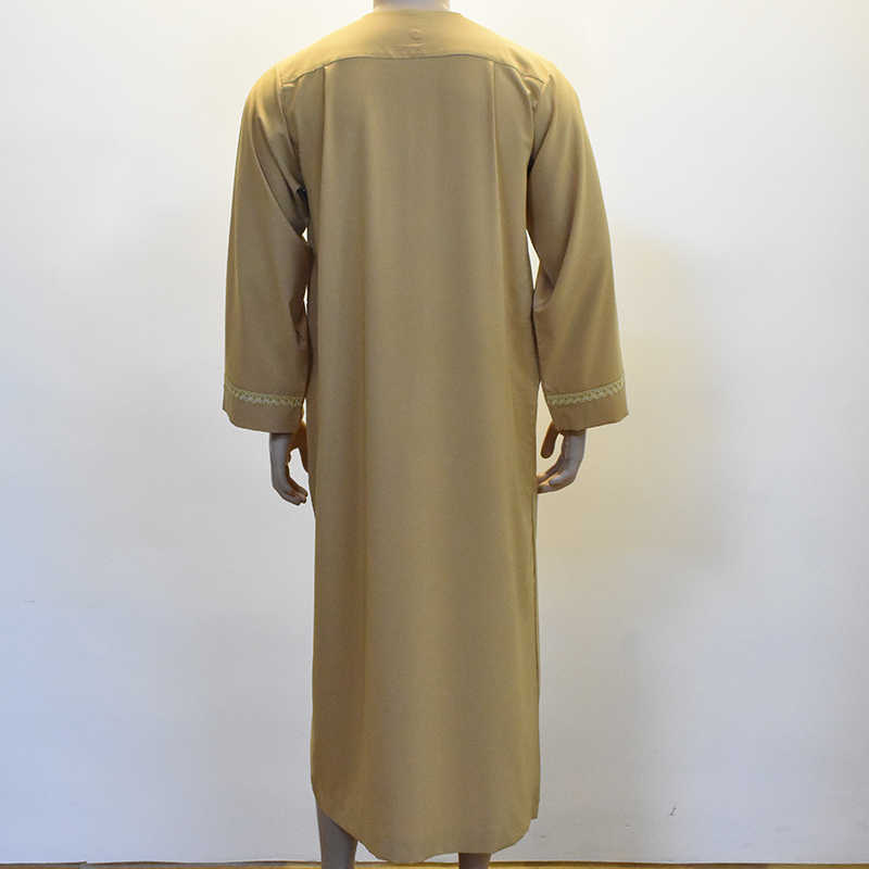 2019 ロングロパ Hombre アバヤアラビアドレスイスラム教徒 Ropa デ Hombre サウジアラビアパキスタンアラブカタールオマーンイスラム服男性ローブドレス