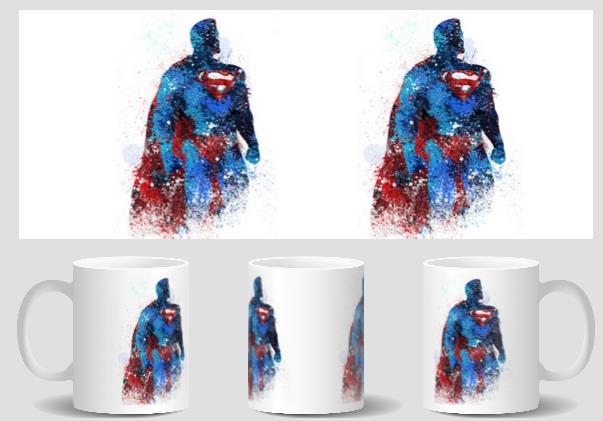 superman mugs Tea art cold hot heat reveal coffee mug transforming mugen heat changing color