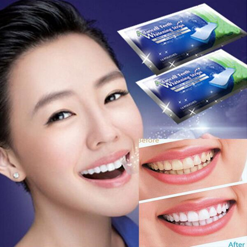 5PCS 3D White Gel Teeth Whitening Strips Oral Hygiene Teeth Whitening Gel Strips Remove Stains Dental Bleaching Tool #234