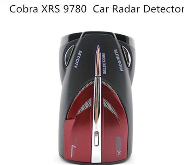 Detector De Radar do carro COBRA XRS9780 Car detector de Radar 16 Banda bandas Detector De Detecção Laser de Alerta de Segurança Voz Enslish & Russa