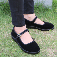 Stylish Bow Tie Ladies Shoes Old Beijing Cloth Shoes Sweet Loafers Slip On Women S Light