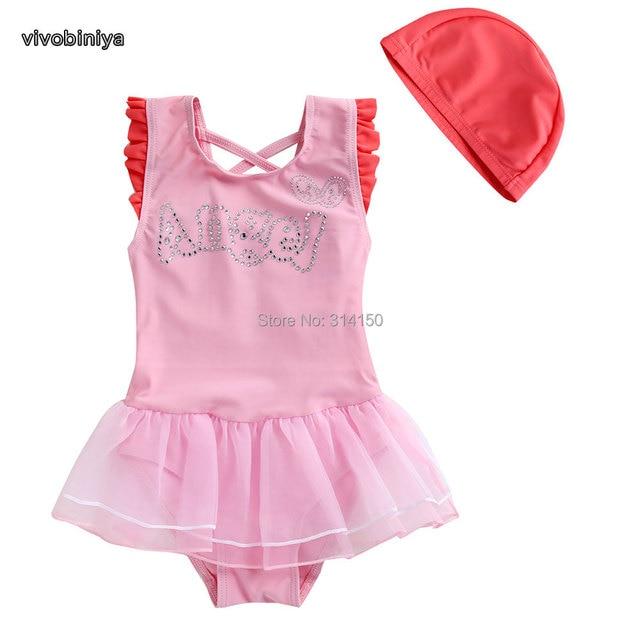 a26cda3184 VIVOBINIYA Free shipping Children swimwear baby girl swimsuit kids bathing  suit baby Beach clothes swimsuit Angel Wings swimwear