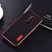 Luxury Aluminum Metal + Real Carbon Fiber Layer Phone Case For OnePlus 6 Case Hard Full Protection Back Cover OnePlus 6 Cases