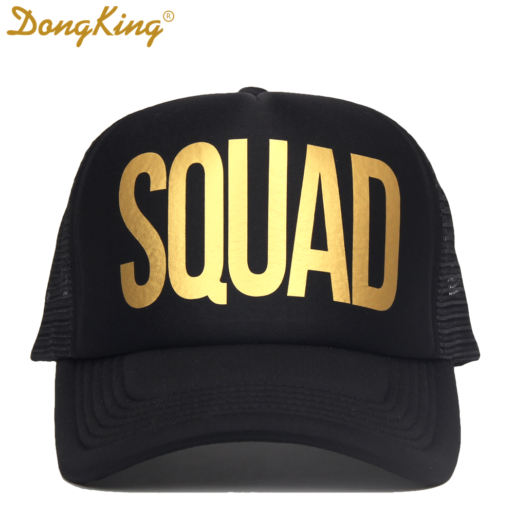DongKing Forty Trucker Hats 40th Birthday Hat 40 Years Old Party Caps Sex Women Gift Golden Printed SQUAD In Baseball From Mens