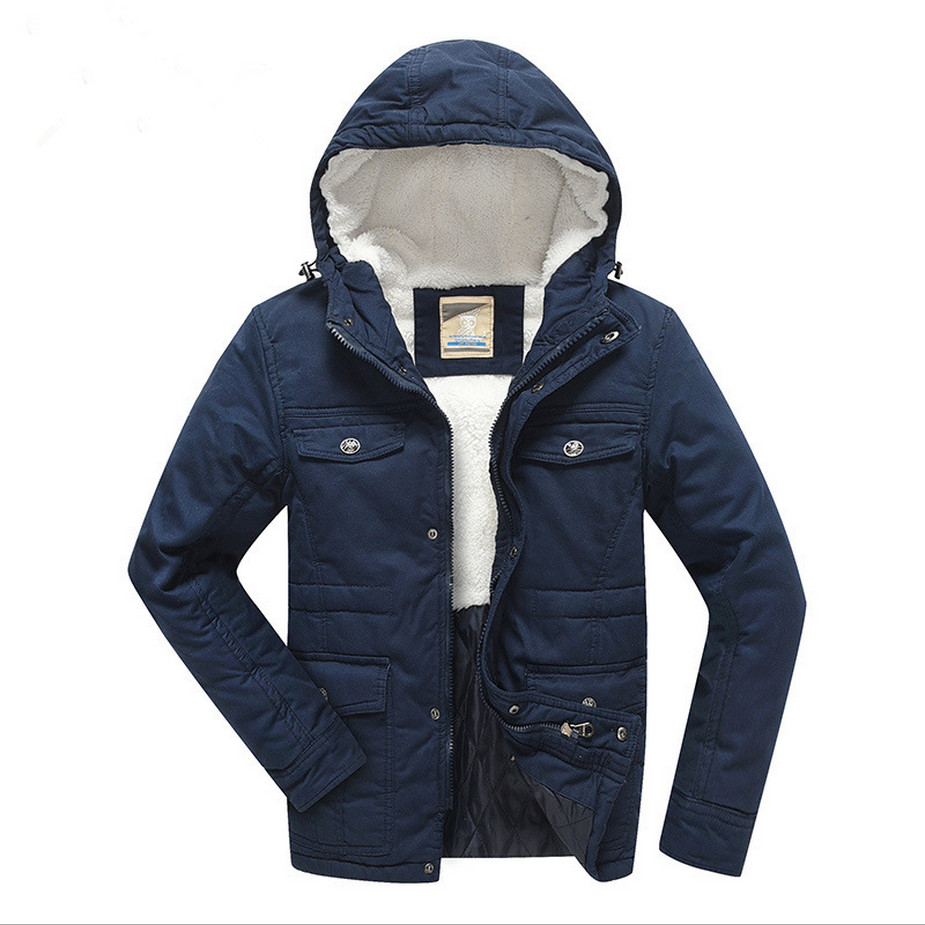 2016 New Boys Winter Coat Padded Jackets Outerwear Thick Warm Lamb Velvet Liner Cotton Jacket For 7-16 T Children Outer Clothing free shipping 2015 cotton padded jacket men s nick coat cotton padded jacket wool liner thick warm cotton denim outerwear