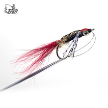 2017 Salmon Fly Fishing Flies Fishing Lure for Samon SeaTrout Yellow Red Gray 2/0# 1/0# Hooks
