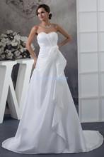free shipping 2014 new design hot seller custom size ball gown bridal sweetheart plus train white wedding dress beach