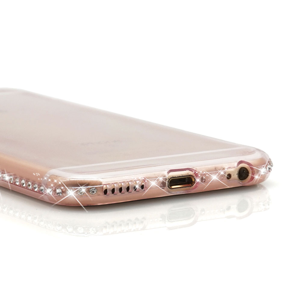 Ascromy For iPhone 7 Case Glitter Silicone Transparent Cover For iPhone X S Max XS XR 8 Plus 6 6S Bling Luxury Case Accessories (10)