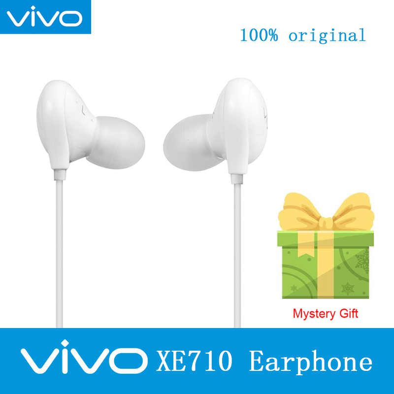 Original VIVO XE710 Headsets Hi-Fi sound send gift with 3.5mm Plug Wire Controller earphone for VIVO X9plus X20 X21 X23 Nex