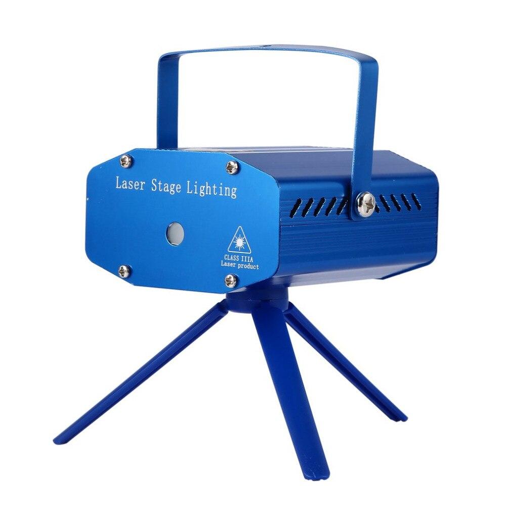 Mini Laser Bühnen Beleuchtung Wirkung Projektor Outdoor Weihnachten für Party Strobe Lichter DJ Club Bar Pub Hochzeit EU UNS UK stecker