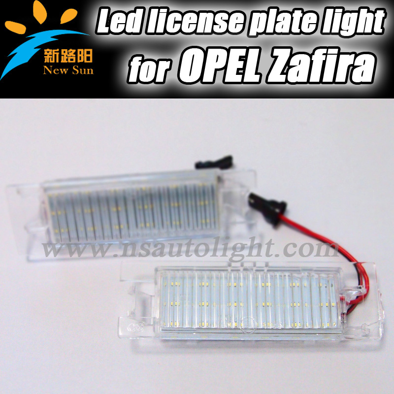 Factory cheapest for Opel Zafira B(05~11),Astra H(04~09),Corsa D(06~11),Insignia(08~) led license light