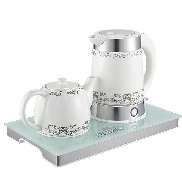 Electric Ceramic Tea Maker Set With 70 85 Degree Adjule Keep Warm Function