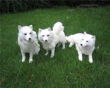 simulation samoyed dog hard model toy polyethylene&furs large white dog handicraft home decoration gift s0666