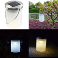 IP65 Waterproof Solar Power Hanging Cylinder Lanterns LED Landscape Path Garden Outdoor Patio Holidays Decoration Light Lamp