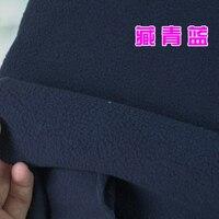 Navy Blue Polyester Polar Fleece Fabric Anti Pilling One Side Fleece Fabric Handmade Fabric BY THE