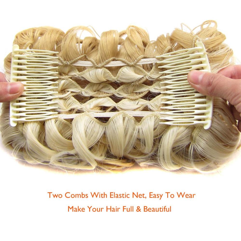 DELICE Σύντομη σγουρή συνθετική ξανθιά - Συνθετικά μαλλιά - Φωτογραφία 3