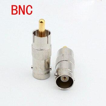 100pcs Q9 Female Turn AV Male Connector, BNC Connector To RCA Plug,  BNC Female To AV Male Adapter