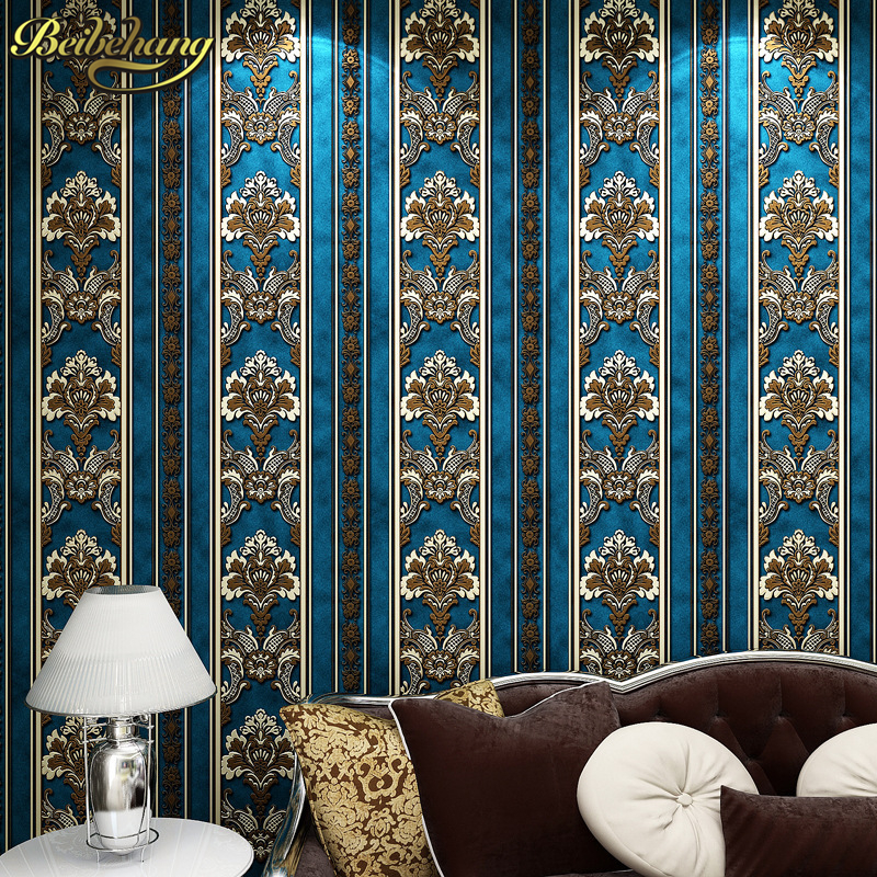beibehang papel de parede 3D wall paper contact paper Non woven Damascus Wallpaper Roll desktop photo 3d wall mural home decor fashion rustic wallpaper 3d non woven wallpapers pastoral floral wall paper mural design bedroom wallpaper contact home decor