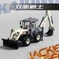 Творческий 1 шт. 1:50 23 см Cadeve белый инженерных грузовик два механическая рука бульдозер имитационная модель сплава автомобиля дети подарок игрушка