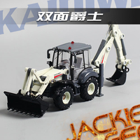 Creative 1pc 1 50 23cm Cadeve White Engineering Truck Two Mechanical Arm Bulldozer Simulation Model Alloy