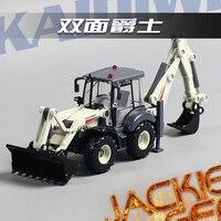 Criativo 1 pc 1:50 23 cm bulldozer caminhão engenharia Cadeve branco dois braço mecânico liga carro modelo de simulação presente das crianças brinquedo