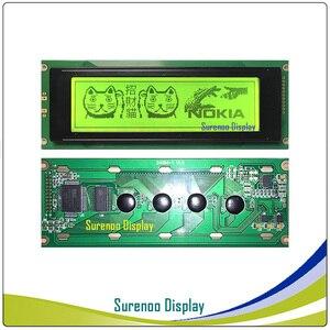 Image 2 - 24064 240*64 matriz gráfica lcd módulo display tela build in ra6963 controlador amarelo verde azul com luz de fundo