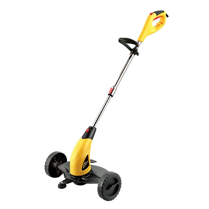Small home lawnmower electric mower with wheels trimming for Small lawnmower shed